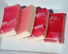 Sex on the Beach - Pink and White Soap - Homemade Soap - Pretty Soap - Bar Soap