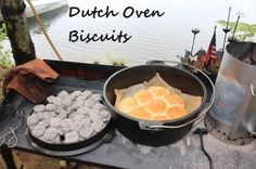 Dutch Oven Biscuits.. I love that she mentions Parchment paper, (not wax paper) Foil has its uses but Parchment paper is great for cooking & less worry of sticking too! ;-)