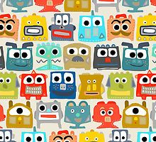 summer baby robots by Sharon Turner