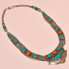 Exclusively Turquoise With Red Coral .925 Silver Gemstone