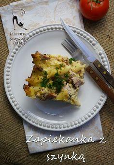Kulinarne przygody Gatity: Najprostsza zapiekanka makaronowa z  szynką