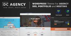 Download and review of Agency For Creative Agency, Hosting, SEO, Portfolio, Hosting Services, SEO and Consultancy, one of the best Themeforest Corporative themes