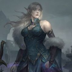 f High Elf Cleric Medium Armor female Wilderness urban Cemetery story Mirabella by Astri Lohne med Fantasy Character Design, Character Creation, Character Design Inspiration, Character Art, Dark Fantasy Art, Fantasy Girl, Fantasy Artwork, Elfa, Elf Characters