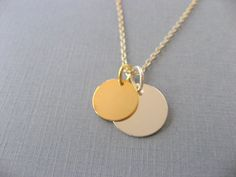 silver & gold coin necklace