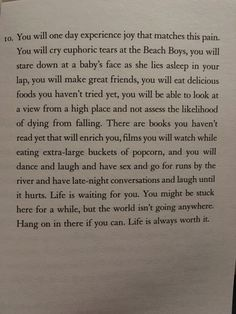 'Reasons To Stay Alive' by Matt Haig
