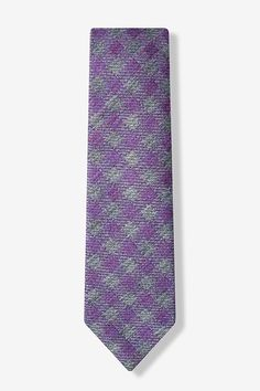 Purple Brussels Plaid Tie