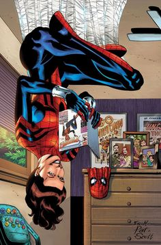 (Mayday Parker: 10 Years of Spider-Girl Cover) By: Pat Olliffe Comic Book Heroes, Comic Books Art, Comic Art, Marvel Universe, May Parker, Next Avengers, Spider Girl, Spider Women, Spiderman Art