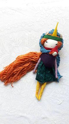 Little Lu autumn mama 14ish handmade cloth girl doll