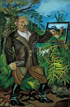 Antonio Ligabue - Self portrait Naive, Henri Rousseau, Art Brut, Native Art, Landscape Photography, Pets, Fictional Characters, Portraits, Paintings