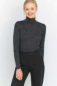 Urban Outfitters Lettuce Edge Lurex Turtleneck Jumper