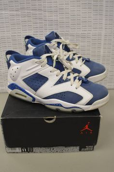 sports shoes dc1bd ca385 Nike Air Jordan Retro 6 Low Seahawks 304401 106 Size 11 Nice