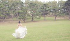 oh, just frolicking through the Parade Grounds in my stunning wedding gown. NBD.
