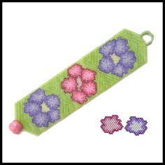 Spring Bouquet Bracelet & Earrings | Bead-Patterns.com