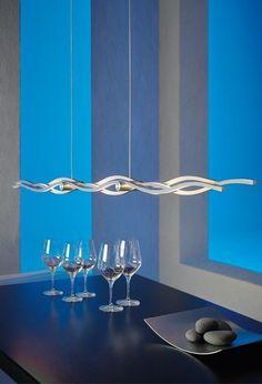 Escale Silk Pendelleuchte 157 cm Aluminium geschliffen