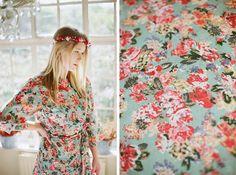 5 Custom kimono bridesmaids robes. Wedding day robes, bridal robes, robes for bridesmaids & flower girl robes.