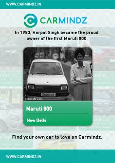 """www.carmindz.in  """"And it is my desire that this motor car will serve the ordinary people of India and they will have no complaint about it. I hope it will contribute in every aspect of the nation building."""" While delivering her speech to a packed auditorium at the launch of the Maruti 800, the late Prime Minister Indira Gandhi was speaking through tears.   Source: indiatoday.intoday.in"""