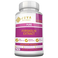 Forskolin Extract Pure 250 Mg from JUVA Naturals - 100% Natural Appetite Suppressant - 100% Pure Vegetarian & Vegan All Natural Weight Loss product - Non-Stimulant with No Additives, Artificial Ingredients, Fillers or Preservatives in this Herbal Supplement - Ideal Companion To Regular Exercise & Clean Eating For Maximum Results - Produced in USA http://www.amazon.com/dp/B00O50API8/ref=cm_sw_r_pi_dp_e6FSvb1A1NGZJ