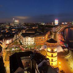 Altstadt by night in Düsseldorf