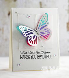 Life is Beautiful dies, sentiment: Tickled Pink: MFT, Crafting with Betty: