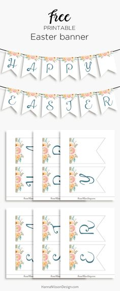 Happy Easter - printable banner for your holiday decor.