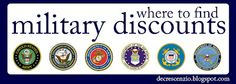 military discounts, military, discounts, coupons, savings, Army, Navy, USMC, Air Force, Coast Guard