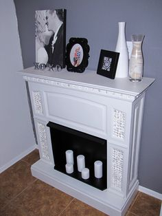 faux fireplace and mantel project