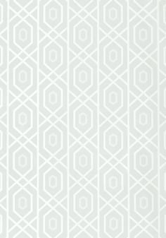 Dining Room or Pwder Room PRESCOTT, Aqua, T1874, Collection Geometric Resource from Thibaut