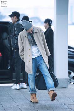 BTS Rap Monster (Kim Namjoon)   we can totally be twins, namjoon. Like srsly I have that jacket & I live the thumb life too