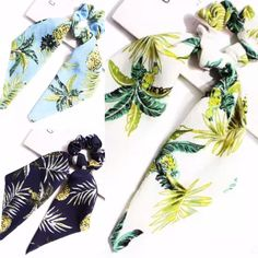 Scrunchie Scarf Pineapple Palm – Lizzys Abode$8 Instock Pineapple Palm, Tropical Vibes, Scrunchies, Accessories, Ribbon Hair Ties, Bias Tape, Crafts, Ornament
