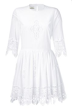 White Cotton Romantic Dress