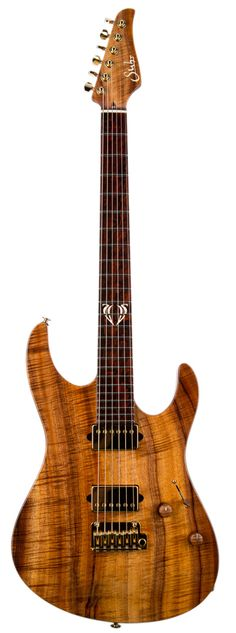 From Suhr's 2014 collection: stunning guitar with flamed koa body, and cocobolo neck/fretboard. (1/2)