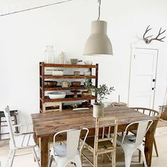 Our gathering place. One of the most utilized corner's  of our home. We believe in giving time to slow down for one another, giving thanks and just sharing our thoughts. All 3 of our babies have been seated on that high chair.  My husband lovingly built that table 6 years ago and other pieces have just been collected  through time.  Meeting my mum right here today for some cake to celebrate her! Give Thanks, Our Baby, Boho Decor, 6 Years, Chair, Table, House, Inspiration, Furniture