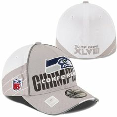 New Era Seattle Seahawks 2013 NFC Champions Trophy Collection 39THIRTY Flex Hat