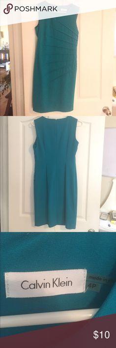 Calvin Klein Turquoise Dress Size 4. Perfect for work or church. Calvin Klein Dresses Midi