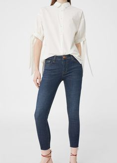Jeans skinny taille haute mango