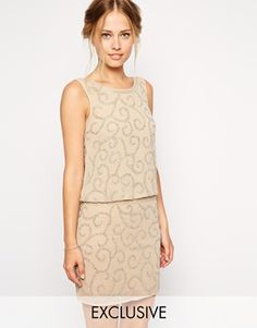 Frock and Frill Embellished Dress With Drop Waist