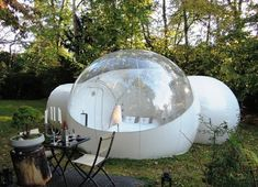 instead of a camping tent:  Bubble Pop Ups, France