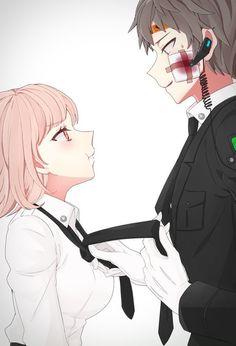 Chiaki Nanami and Hajime Hinata//Danganronpa