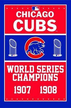 3X5FT MLB Chicago Cubs Flag champion banner metal Grommets Free Shipping custom flag 100D Digital Print