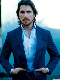 Christian Bale takes over the cover of the June/July 2012 issue of GQ Australia. The Dark Knight Rises star spoke about his role as Batman, dating Drew Barrymore once, and only once, and his daughter. Batman Begins, Chris Hemsworth, Gorgeous Men, Beautiful People, Most Beautiful Man, Gq Australia, Christoph Waltz, I Love Cinema, Actrices Hollywood
