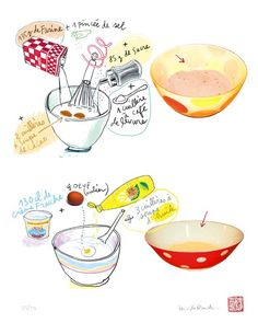 Food art Muffin Recipe  8X10 Limited edition by lucileskitchen, $25.00