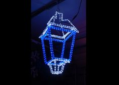 Lantern Lighting RL-3D-016. Dimensions: 0.7m x0.7m x 1.2m.LED rope light finish Lantern on aluminum frame.Custom made Color, Size and Text can be adjusted to individual needs Manufactured, serviced and repaired in Ireland All lights are anti-shatter, long-life, eco-friendly and low power use New products are much lighter and storm resistant Reduced order time, year round repairs and rework, replacement service (24 hours)