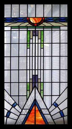 Art Nouveau Stained Glass Window via Kim Chabet
