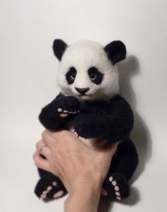 Hey, I found this really awesome Etsy listing at https://www.etsy.com/listing/227225693/needle-felted-panda-made-to-order