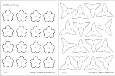 Small flower lei template free from firstpalette.com
