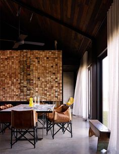 Stacked structural lumber wall...