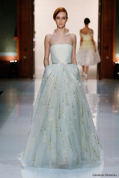 georges hobeika couture spring summer 2014 strapless gown bow