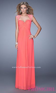 La Femme Dress with Sweetheart Neckline and Open Back at PromGirl.com