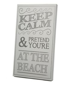 So this seems like a very good way to handle the grey days (and the cold)! :: 'At the Beach' Wall Art