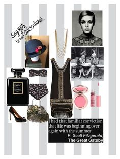 """""""Sarah's Look 👀 💋"""" by theladylotus on Polyvore featuring Gatsby, River Island, Miss Selfridge, STELLA McCARTNEY, Charlotte Russe, Salvatore Ferragamo, Chanel, vintage, TheGreatGatsby and 1920s"""